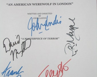 An American Werewolf in London Signed Film Movie Screenplay Script Autographs John Landis David Naughton Frank Oz Griffin Dunne signatures