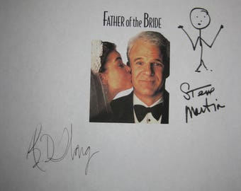 Father of the Bride Signed Film Movie Script Screenplay Autograph X5 Steve Martin Diane Keaton Martin Short Kimberly Williams BD Wong
