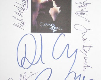 Casino Royale Signed Movie Script Screenplay X7 Daniel Craig Eva Green Mads Mikkelsen Judi Dench Jefferey Wright Giancarlo Giannini