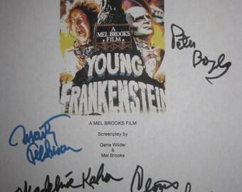 Young Frankenstein Signed script Screenplay X7 Mel Brooks Gene Wilder Peter Boyle Marty Feldman Madeline Kahn Madeline Kahn Terri Garr