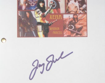 Xena Warrior Princess Signed Pilot TV Screenplay Script Lucy Lawless Sins of Past autograph signature