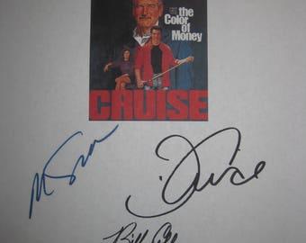 The Color of Money Signed Film Movie Script Screenplay Autograph X6 Paul Newman Tom Cruise Martin Scorsese John Turturro Mary Mastrantonio