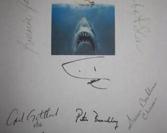Jaws Signed Film Movie Script Screenplay X11 Autograph Roy Scheider Steven Spielberg Robert Shaw Richard Dreyfuss Peter Benchley Hamilton