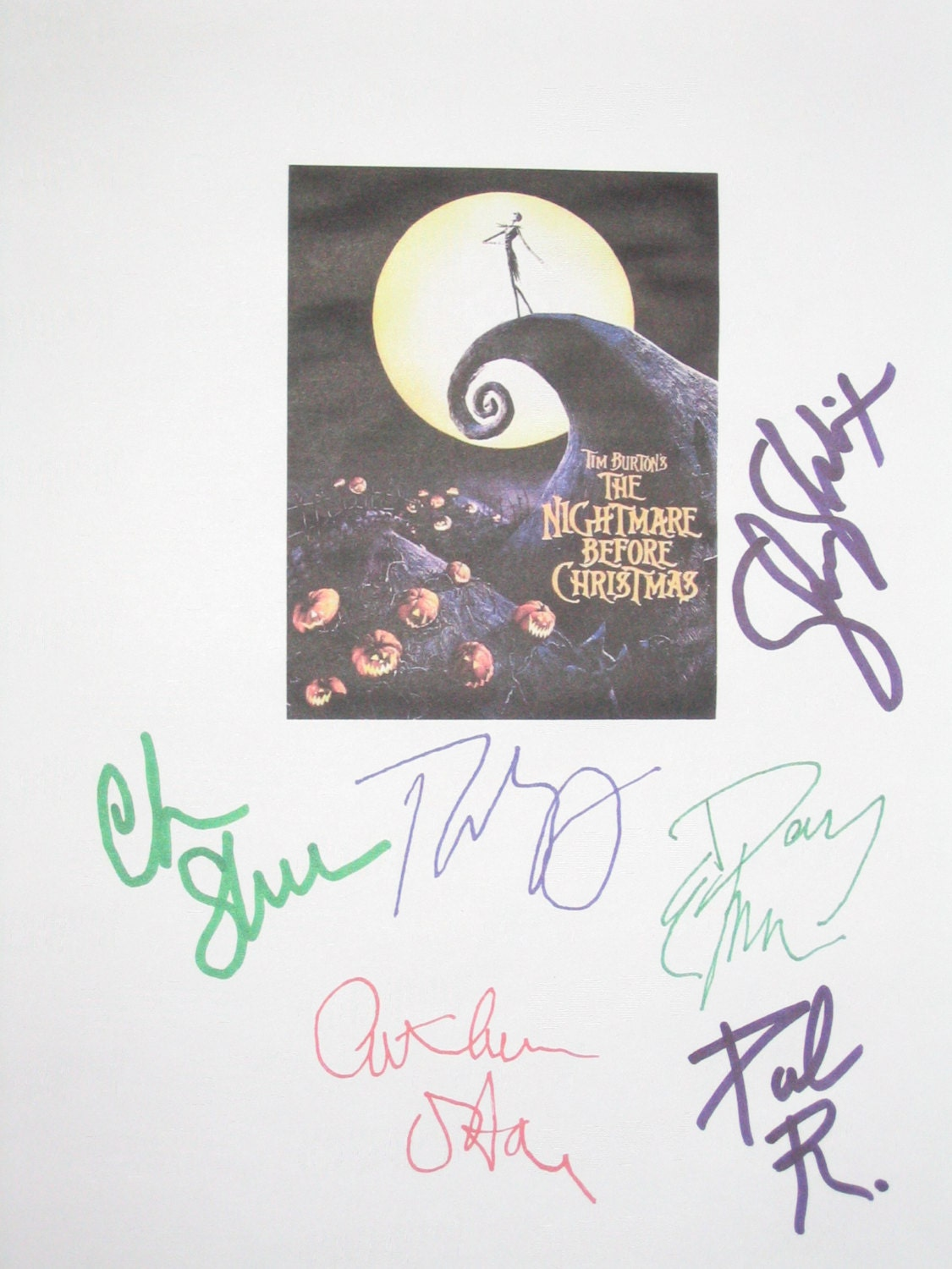 The Nightmare Before Christmas Signed Movie Film Script | Etsy