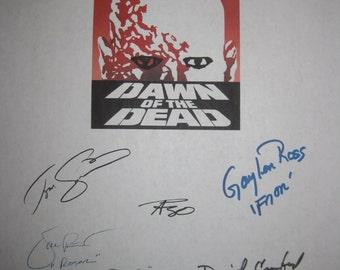 Dawn of the Dead 1978 Signed Film Movie Screenplay Script X10 Autograph George A. Romero Ken Foree David Emge Taso N. Stavrakis Tom Savini