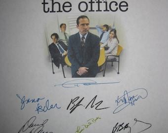 The Office Signed Pilot Script Screenplay X14 Autographs Ricky Gervais Steve Carell Rainn Wilson John Krasinski Jenna Fischer B.J. Novak