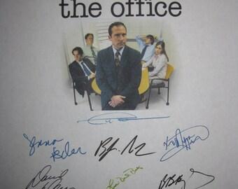 The Office Signed Script Screenplay The Injury X14 Autographs Ricky Gervais Steve Carell Rainn Wilson John Krasinski Jenna Fischer Novak