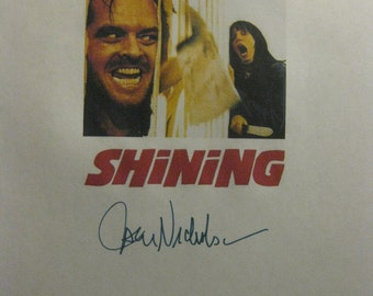 The Shining Signed Film Movie Screenplay Script X5 Autographs Stephen King Stanley Kubrick Jack Nicholson Shelley Duvall  Scatman Crothers