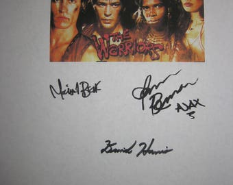 The Warriors Signed Film Moive Screenplay Script X5 Autograph Michael Beck James Remar Deborah Van Valkenburgh David Harris David Pat Kelly