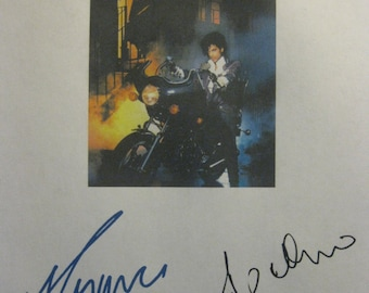 Purple Rain Signed Movie Film Script Screenplay X2 Prince Apollonia Kotero autograph signatures musical film reprint musician classic