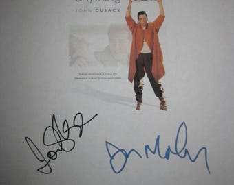 Say Anything Signed Film Moive Script Screenplay X6 Autograph John Cusack Ione Skye Jeremy Piven Cameron Crowe Lili Taylor John Mahoney