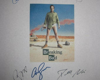 Breaking Bad Signed TV Script Screenplay Autograph X8 Bryan Cranston Anna Gunn Aaron Paul Vince Gilligan Dean Norris Betsy Brandt RJ Mitte