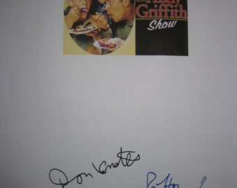 The Andy Griffith Show Signed TV Screenplay Script X3 Autograph Ron Howard Don Knotts Andy Griffith A sermon for today signature