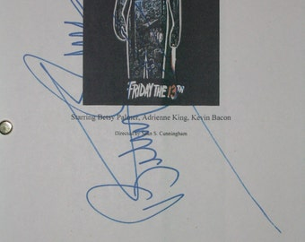 Friday the 13th Signed Movie Film Screenplay Script Autograph Betsy Palmer signature one of the best horror films ever classic