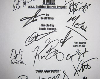 8 Mile Signed Movie Film Screenplay Script X14 Eminem Britany Murphy 50 Cent Kim Basinger Mekhi Phifer Xzibit autographs signature Jackson