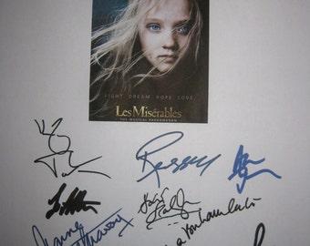 Les Miserables Signed Film movie Script Screenplay X13 Hugh Jackman Russell Crowe Anne Hathaway Amanda Seyfried Helena Bonham Carter Musical