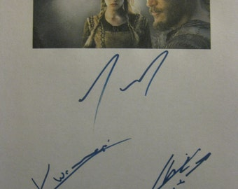 Vikings Signed TV Pilot Script Screenplay Autograph X4 Travis Fimmel Katheryn Winnick Clive Standen Michael Hirst signatures warriors