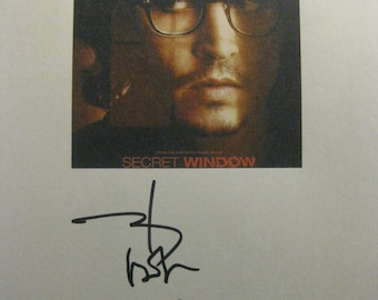 Secret Window Signed Film Movie Screenplay Script Autographs Signatures Johnny Depp John Turturro reprint