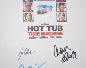 Hot Tub Time Machine Signed Movie Film Script Screenplay Autographs John Cusack Clark Duke Craig Robinson signatures funny film