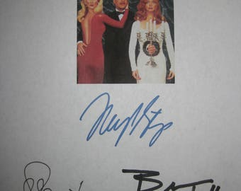 Death Becomes Her Signed Movie Film Script Screenplay X3 Autograph Meryl Streep Bruce Willis Goldie Hawn signature classic funny film