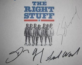 The Right Stuff Signed Film Movie Script Screenplay X6 Autograph Sam Shepard Scott Glenn Ed Harris Dennis Quaid Fred Ward Barbara Hershey