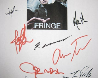 Fringe Signed TV Script Screenplay X9 Autographs Anna Torv Joshua Jackson John Noble Blair Brown J J Abrams Jasika Nicole Kirk Acevedo