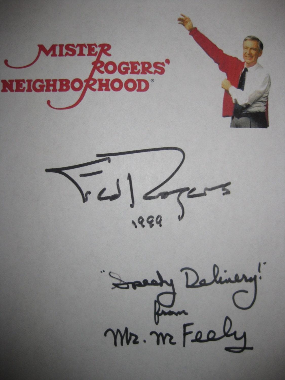 Mister Rogers Neighborhood Work Part 2 Signed Tv Script Etsy