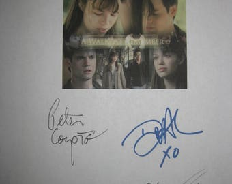 A Walk to Remember Signed Film Movie Script Screenplay X6 Autographs Shane West Mandy Moore Peter Coyote Daryl Hannah Clayne Crawford