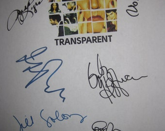 Transparent Signed TV Script Screenplay Autograph X8 Jeffrey Tambor Judith Light Rob Huebel Alison Sudol Gaby Hoffmann Amy Landecker Soloway