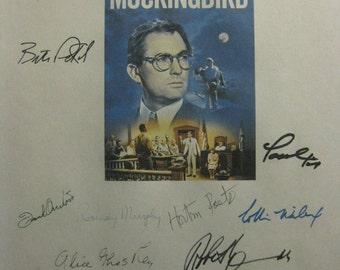 To Kill A Mockingbird Signed Film Movie Screenplay Script Autographs X15 Gregory Peck Harper Lee Frank Overton Robert Duvall John Megna