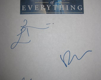 The Theory of Everything Signed Film Movie Script Screenplay Autographs Anthony McCarten Eddie Redmayne Felicity Jones signatures reprint