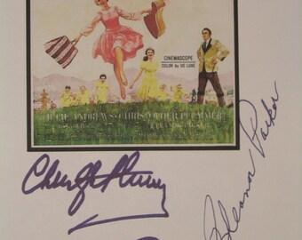 The Sound of Music Signed Script Film Movie Screenplay X3 Autographs Julie Andrews Christopher Plummer Eleanor Parker signatures reprint