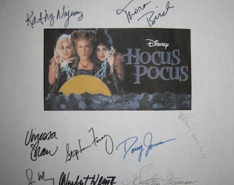 Hocus Pocus Signed Film Movie Screenplay Script x14 Autographs Bette Midler Sarah Jessica Parker Kathy Najimy Garry Marshall Penny Marshall