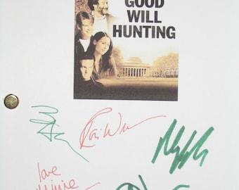 Good Will Hunting Signed Movie Film Screenplay Script X6 Autographs Matt Damon Robin Williams Casey Ben Affleck Cole Hauser Minnie Driver