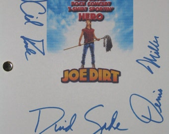 Joe Dirt Signed Movie Film Script Screenplay Autograph X3 David Spade Kid Rock Dennis Miller signature funny film