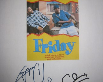 Friday Signed Movie Film Script Screenplay X2 Ice Cube Chris Tucker Autographs signature funny movie
