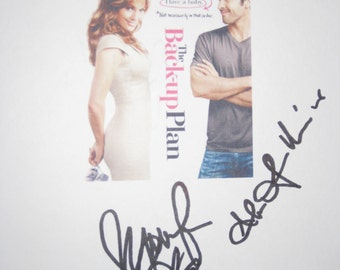 The Back Up Plan Signed Film Movie Screenplay Script Autograph Jennifer Lopez Alex O'Loughlin reprint MINT Signature J Lo