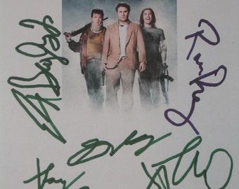 Pineapple Express Signed Film Movie Script Screenplay Autographs Seth Rogen James Franco Gary Cole Rosie Perez Ed Begley Jr. signature