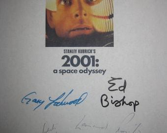 2001 A Space Odyssey Signed Film Movie Script Screenplay X8 Autograph Stanley Kubrick Keir Dullea Gary Lockwood Robert Beatty Ed Bishop