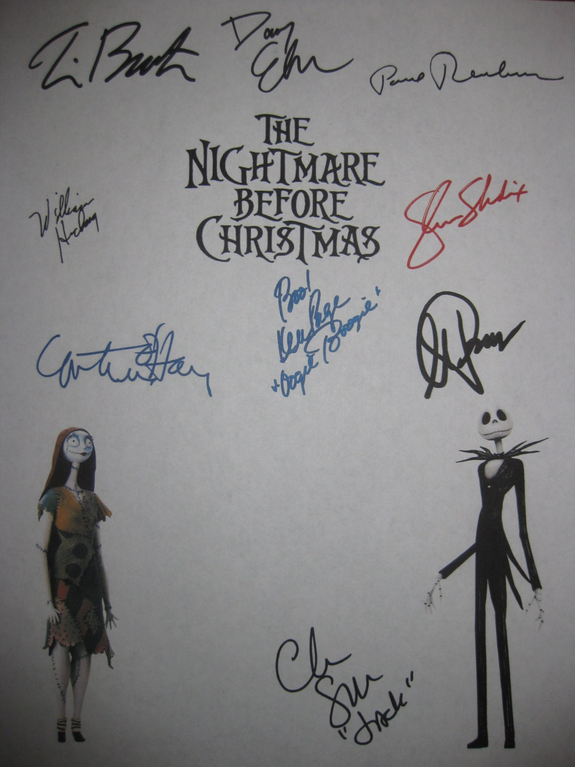 The Nightmare Before Christmas Signed Fim Movie Screenplay | Etsy