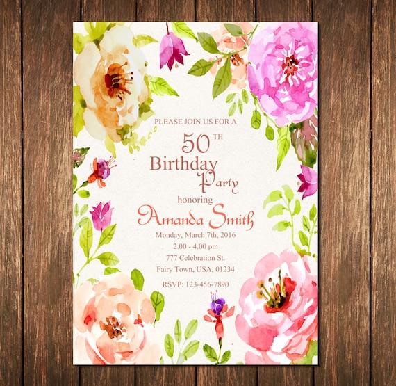 50 Geburtstag Einladung 50 Geburtstag Einladung Zum 50 Etsy