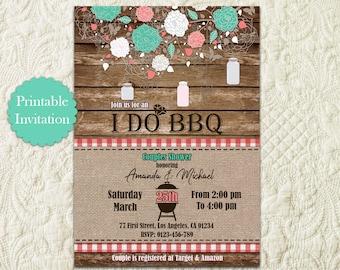 I Do BBQ Party Printable Invitation, I Do BBQ Wedding Couples Shower, I Do BBQ Engagement Party, I Do Bbq Invite, I Do Barbeque Invitation