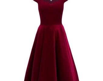 9810ddcbdba1 Burgundy velvet dress