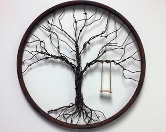 Barbed Wire Tree of Life - Inside Bike Wheel
