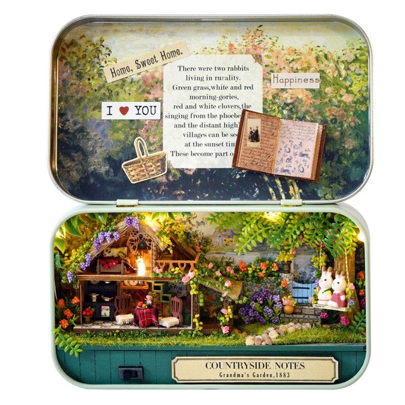 Dolls & Stuffed Toys Christmas Snow Handmade Box Mini Doll House Wooden Miniature Diy Dollhouse Toys & Hobbies