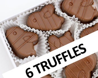 Creamy Milk Chocolate Truffles with Milk Chocolate Ganache Filling   6 chocolates per box