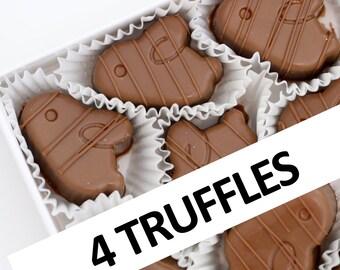 Creamy Milk Chocolate Truffles with Milk Chocolate Ganache Filling   4 chocolates per box