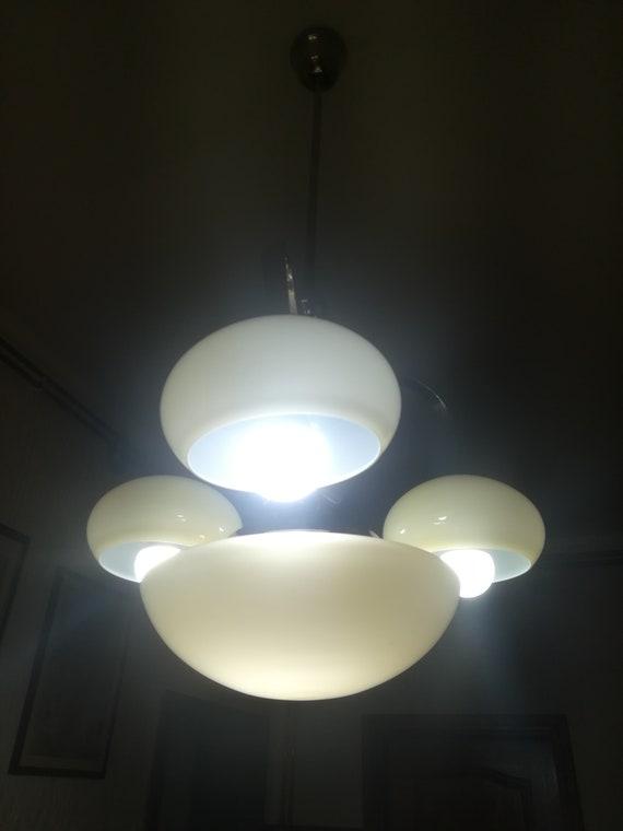 30s ARTDECO CIRCULAR Ceiling Lamp from Yugoslavia