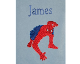 Spiderman Personalised Super Soft Fleece Baby Blanket
