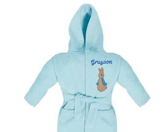 Peter Rabbit Personalised   Applique Super Soft Fleece Dressing Gown  Bathrobe e525928ac